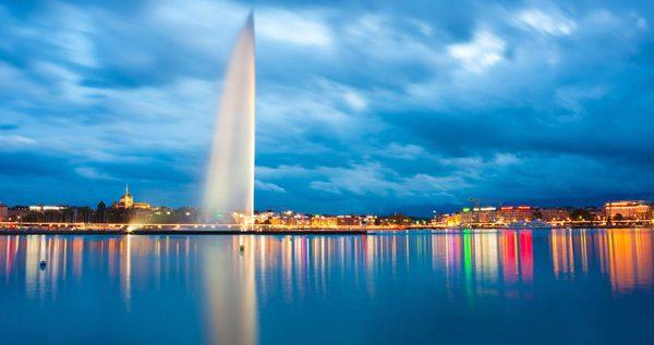 آب نما فواره ژنو سوئیس