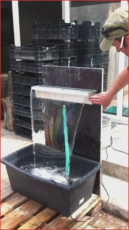 ساخت آبنما پرده آب